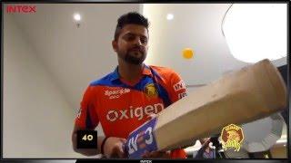 Gujarat Lions Suresh Raina - Bat Tap Challenge