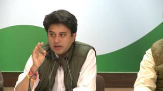 AICC Press Briefing by Jyotiraditya Madhavrao Scindia at Congress HQ