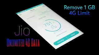 Trick to Remove Jio 1GB 4G LIMIT with live Proof - New method 2017