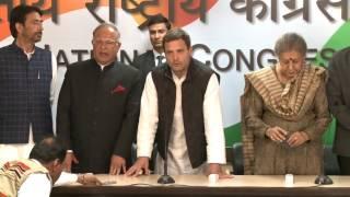 I welcome Tariq Hameed Karra ji to the Congress Party : Rahul Gandhi