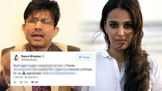 Anaarkali Of Aarah: KRK insults Swara Bhaskar on Twitter - Bollywood Bhijan
