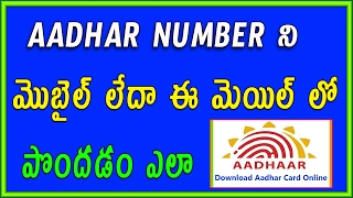How to get aadhar number without Aadhar card Telugu