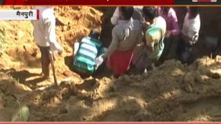 five people buried in the recover tubewells one death mainpuri