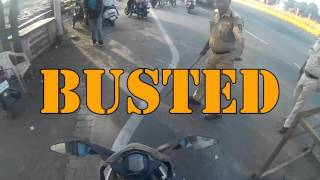 Busted - KTM RC390 - Mumbai Police check post