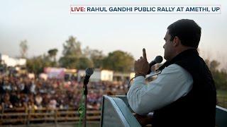 LIVE : Congress VP Rahul Gandhi addresses Public Rally in Munshiganj, Uttar Pradesh