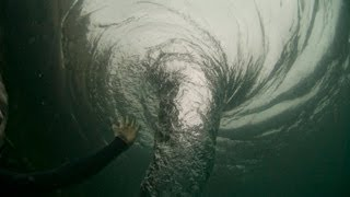 Swimming with a Whirlpool