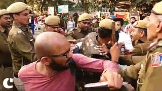 AISA, SFI clash with ABVP outside Delhi's Ramjas College