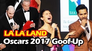 Varun & Alia's FUNNY Reaction On Goof-up In Oscar Awards 2017