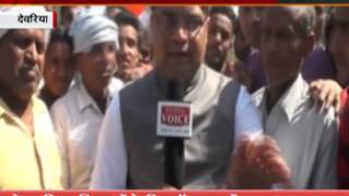 INDIA VOICE correspondent interview with jp jaiswal sp candidate from Deoria