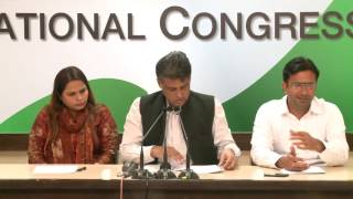 AICC Press Briefing by Manish Tewari at Congress HQ. February 27, 2017