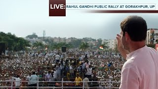 LIVE : Congress VP Rahul Gandhi addresses Public Rally in Gorakhpur, Uttar Pradesh, Feb 27, 2017