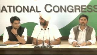 AICC Press Briefing by Manpreet Badal at Congress HQ. March 1, 2017