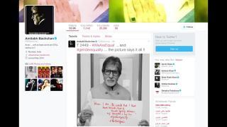 Amitabh Bachchan bats for gender equality