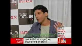 CNBC Tech Guru in conversation with Farhan Akhtar and his association with Intex Aqua i-5.