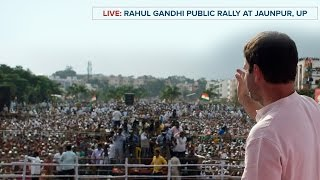 Congress VP Rahul Gandhi addresses Public Rally in Jaunpur, Uttar Pradesh, March 6, 2017