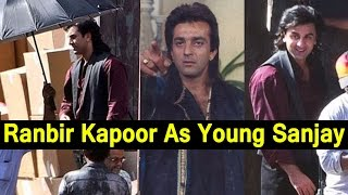 Ranbir Kapoor As Young Sanjay Dutt - Ranbir Kapoor Amazing Transformation Into Sanjay Dutt Biopic