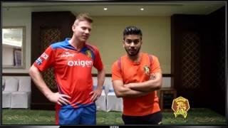 Gujarat Lions   Table Tennis with James Faulkner & Keshav Bansal