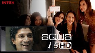 Intex Aqua i5 HD TV Commercial, Farhan Akhtar in Aqua i5HD TVC Ad