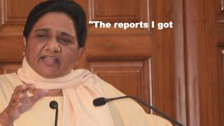 Mayawati blames EVMs for loss