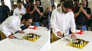 Aamir Khan Cuts Cake With Media, Celebrates 52nd Birthday