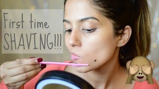 SHAVING MY FACE FOR THE 1ST TIME! - Sensitive Skin I Complete Experience, Reaction etc.