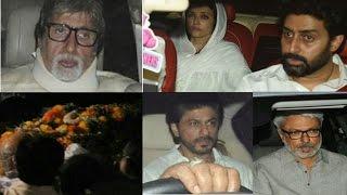Aishwarya Rai Father Krishnaraj Rai's Funeral - Shahrukh Khan, Amitabh, Bollywood Celebs Attend