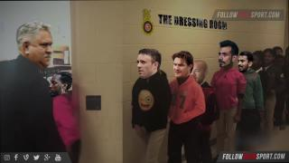 The King of Good Times welcoming players in dressing room!