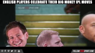 ENGLISH PLAYER CELEBRATING THEIR BIG MONEY IPL MOVES