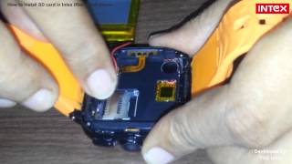 How to install SD card in Intex iRist watch phone ?