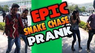 Epic Snakechase Prank Upar Saap Gir Gaya !! MadnessPranks !! Pranks in India 2017