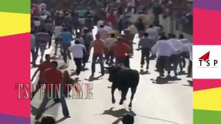 Best Shocking BULL FIGHTING ACCIDENTS - Angry Bulls attacks on humans - Top Funny Videos
