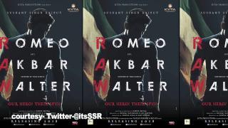 """Romeo Akbar Walter"" POSTER |Sushant playing ""RAW"" agent?"