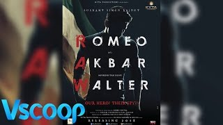"Official First look | Sushant Singh Rajput's ""ROMEO AKBAR WALTER' #Vscoop"