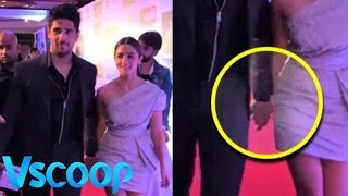 Sidharth Malhotra & Alia Bhatt Walk Hand-In-Hand At HT Red Carpet #Vscoop