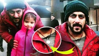 Salman Khan's NEW LOCKET For Tiger Zinda Hai, Salman Poses With His Little Fans On The Sets