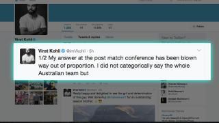 Brad Hodge APOLOGISES to Virat Kohli for his mean remarks