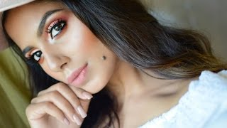 Pinkish Peach Makeup Tutorial BeautyConfessionz