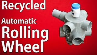 How to make a  Recycled Automatic Rolling Wheel  - Automatic  Electric Car Making