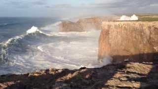 Hercules 2014: Huge waves in Sagres, Portugal