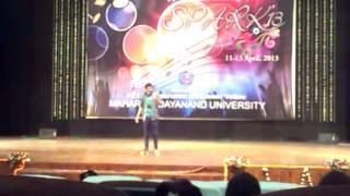 youth fest mdu mimicry by mr.pank
