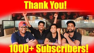 1000 Subscribers Celebration! Thank you All.