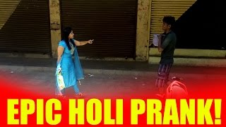 EPIC Holi Prank  in vasai virar Must Watch - Virar2churchgate