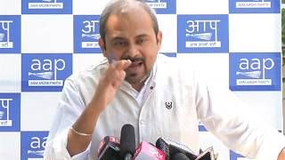 Aap Delhi Convenor Briefs Media on how East MCD Misleading people with their Report Card