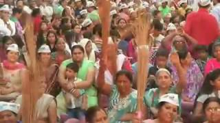 Aap National Convenor Arvind Kejriwal's Public Meeting In Burari