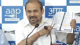 Aap Delhi Convener Dilip Pandey Briefs Media on House Tax