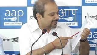 Aap Delhi Convener Dilip Pandey Briefs Media on BJP is Molisting Street Vendors