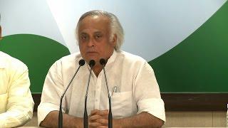 AICC Press Briefing By Jairam Ramesh at Congress HQ, as on April 15, 2017