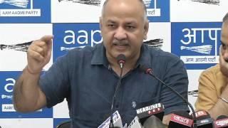 Aap Sr. Leader Manish Sisodia Exposes BJP loot on MCD