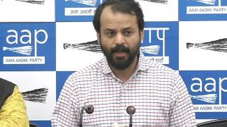 Aam Aadmi Party's internal survey Briefed by Aap leader Ashish Khetan on MCD election