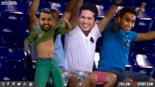 Rohit Sharma and Co Celebrating